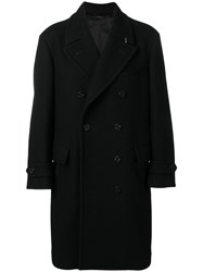 Tom Ford Oversized Double Breasted Coat Black