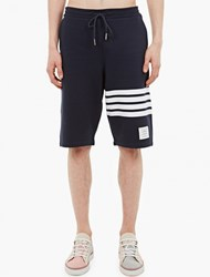 Thom Browne Navy Cotton Sweatpants
