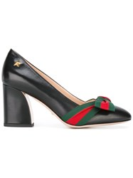 Gucci Web Bow Pumps Black