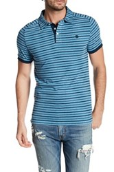 Timberland Striped Slim Fit Polo Blue