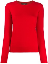 N.Peal Round Neck Sweater Red