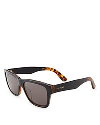 Toms Culver Square Sunglasses 57Mm Honey Tort Smoke