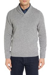 Nordstrom Men's Big And Tall Men's Shop Shawl Collar Cashmere Pullover Grey Driftwood Heather