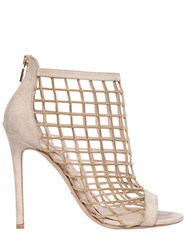 Elie Saab 110Mm Chain And Suede Cage Sandals