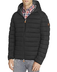 Save The Duck Hooded Puffer Jacket Black