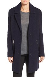 Calvin Klein Women's Wool Blend Boucle Walking Coat