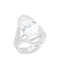 Nadri Cubic Zirconia Pave And Oval Ring Silver