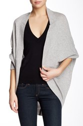 Magaschoni Long Sleeves Cashmere Cocoon Cardigan Gray