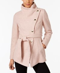 Inc International Concepts Asymmetrical Belted Walker Coat Created For Macy's Pale Rose