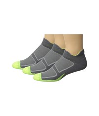Feetures Elite Light Cushion No Show Tab 3 Pair Pack Graphite Black No Show Socks Shoes Gray