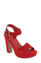 Kenneth Cole Reaction Women's 'I Can Change' Platform Sandal Lipstick Red