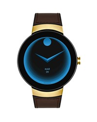 Movado Bold Connect Smartwatch With Brown Leather Strap