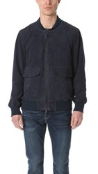 Levi's Made And Crafted Suede Bomber Jacket Navy