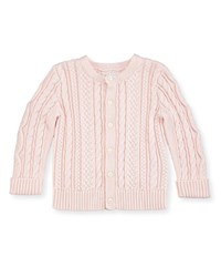 Ralph Lauren Cotton Cable Knit Cardigan 6 24 Months Pink