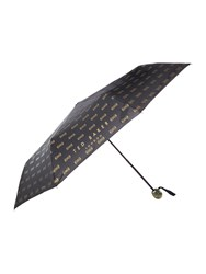 Ted Baker All Over Bow Umbrella Black