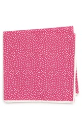 Southern Tide Sagamore Spots Cotton And Silk Pocket Square Pink