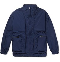 Remi Relief Layered Shell And Mesh Jacket Blue