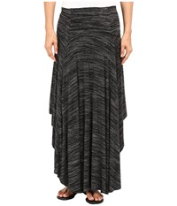 Mod O Doc Space Dyed Rayon Spandex Jersey Round Midi Skirt Black Heather Women's Skirt