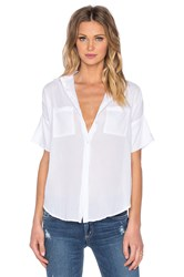 Sundry Short Sleeve Button Up White