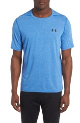 Under Armour Men's Regular Fit Threadborne T Shirt Blue Marker Black