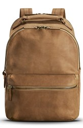 Shinola Outrigger Runwell Backpack Brown Light Brown
