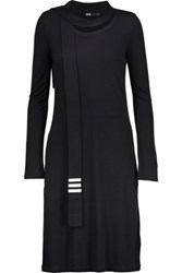 Y 3 Adidas Originals Scarf Effect Knitted Dress Black