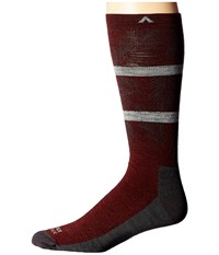 Wigwam Makua Valley Pro Maroon Men's Crew Cut Socks Shoes Red