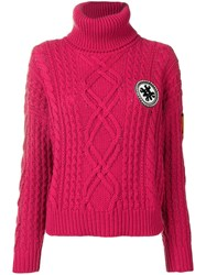 Mr And Mrs Italy Logo Roll Neck Sweater Pink