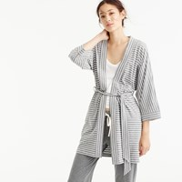 J.Crew Cotton Robe In Stripe