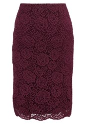 Anna Field Pencil Skirt Zinfandel Bordeaux
