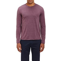 Isaia Jersey Long Sleeve T Shirt Purple
