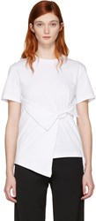 J.W.Anderson White Draped Front T Shirt