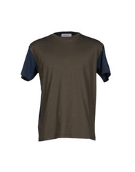 Mauro Grifoni T Shirts Military Green