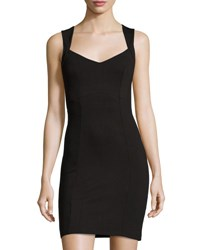 French Connection Lula Sleeveless Bodycon Dress Black