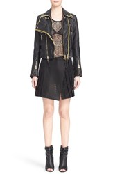 Women's Burberry Prorsum 'Classic' Lambskin Leather Biker Jacket