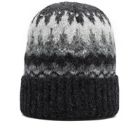 Norse Projects Fair Isle Beanie Charcoal Melange