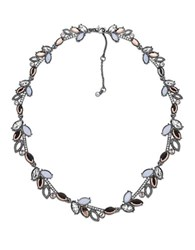 Jenny Packham Crystal And Rose Opal Collar Necklace Pink
