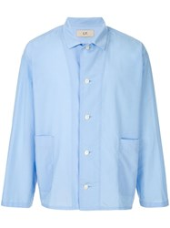 Loveless Cropped Shirt Blue