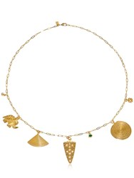 Elizabeth And James Lyra Necklace Gold