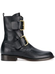 Michel Vivien Emerance Buckled Ankle Boots Black