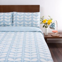 Orla Kiely Stem Grid Scribble Duvet Cover Sky Double