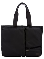 Porter Pocketed Tote Black