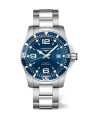 Longines Stainless Steel Automatic Bracelet Watch Blue Silver