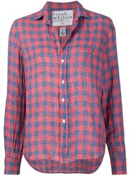 Frank And Eileen 'Eileen' Plaid Shirt Blue