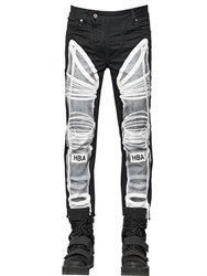Hba Hood By Air 16.5Cm Astronaut Printed Denim Jeans
