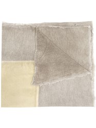 Avant Toi Square Print Dyed Scarf Grey