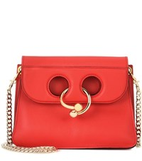 J.W.Anderson Mini Pierce Leather Shoulder Bag Red