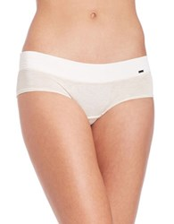 Kensie Kate Hipster Panty Oatmeal Heather