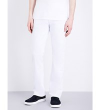 True Religion Ricky Relaxed Fit Straight Leg Stretch Denim Jeans Dnw White