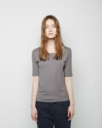 La Garconne Moderne The New Didion Rib Tee Grey